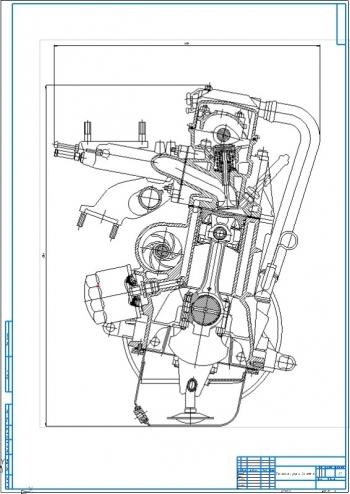 Проект четырёхтактного бензинового двигателя ВАЗ мощностью 55,5 кВт