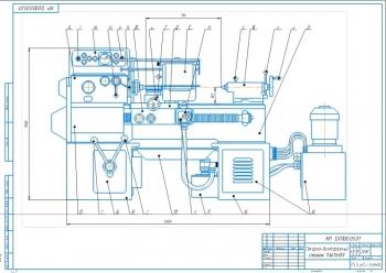 2.Сборочный чертеж токарно-винторезного станка 1А616Ф3 А2