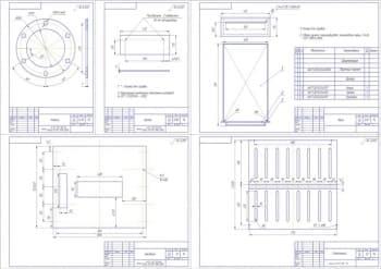 Чертеж стола-стенда для выполнения сварочных работ в ремонтной мастерской при ремонте АТС
