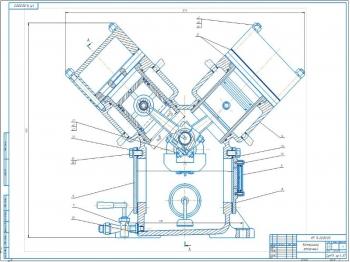 Конструкция холодильного поршневого аммиачного компрессора