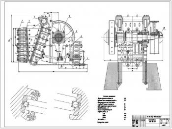 Модернизация щековой дробилки ЩДП 900х1200
