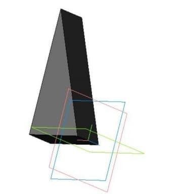 Чертеж модели 3d детали косынки
