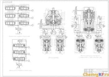 Чертеж дозирующих систем трансмиссий погрузчика (формат А1)