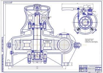 2.Чертеж вертикального шпиля для погрузочных работ: вид сбоку (формат А1). Техническая характеристика