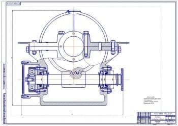 2.Чертеж вертикального шпиля для погрузочных работ: вид сбоку (формат А1).