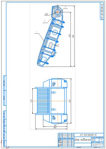 2.Сборочный чертеж подвижной щеки А1