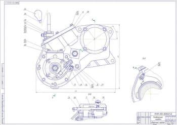 Сборочный чертеж раздаточной коробки автомобиля УАЗ