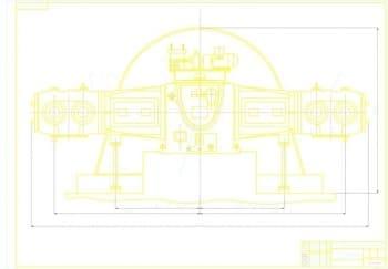 2.Чертеж вида общего компрессора в масштабе 1:5, с основными параметрами конструкции (формат А1)
