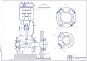 Чертеж общего вида компрессора 7ГП с разработкой сборочных чертежей узлов компрессора и деталей