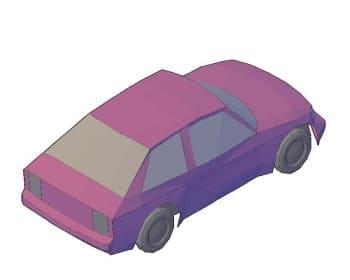 2.Чертеж вида общего автомобиля легкового в 3D формате