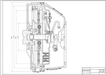 2.Сборочный чертеж сцепления автомобиля грузового МАЗ-533602 в масштабе 1:1, с проставлением размерности (формат А1)