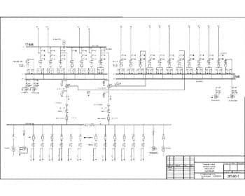 2.Чертеж схемы электрических соединений главной на подстанции унифицированной 110/35/10 кВ с указанными позициями (формат А1)