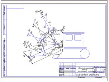 2.Кинематическая схема рычажной системы А3