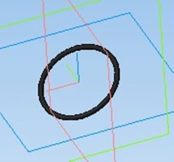 23.Кольцо деталь в 3D-моделировании