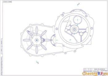 2.Чертеж сборочный вариатора (вид сзади) (формат А1)