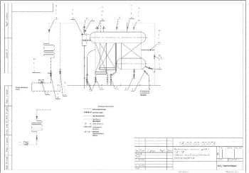 2.Чертеж схемы комбинированной расположения арматуры котла ДКВР 10-13