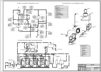 2.Чертеж компоновки котельной, с экспликациями тепловой схемы котельной