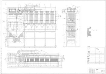 2.Чертеж сборочный котла-утилизатора в масштабе 1:50, с техническими характеристиками