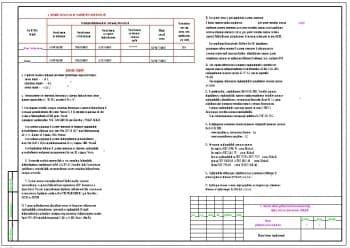 2.Чертеж общих данных (продолжение) с основными показателями по рабочим чертежам марки ТМ и основными решениями (формат А3)