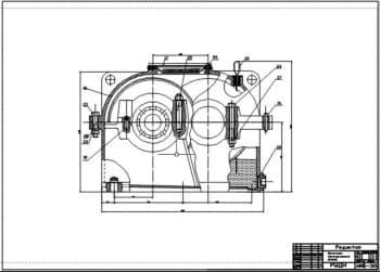 2.Чертеж сборочный механизма передвижения крана в масштабе 1:1, с указанными размерами (формат А1)
