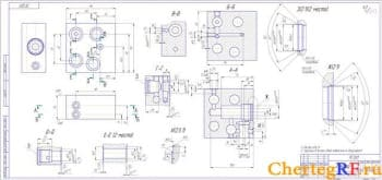 2. деталь плита (формат 3хА3)
