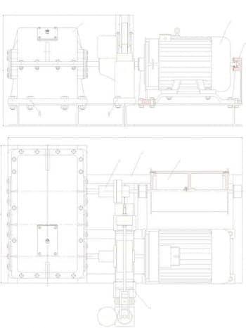 2.Чертеж общего вида привода с указанными размерами (формат А4)
