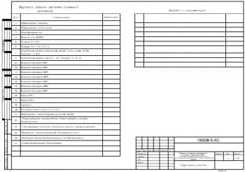 2.Чертеж общих данных (начало) с ведомостями рабочих чертежей основного комплекта и спецификаций (формат А3)