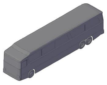 25.Чертеж общего вида автобуса в 3D формате