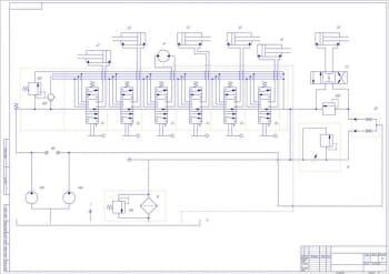 2.Кинематическая схема автогрейдера , в масштабе 1:1  (формат А1)