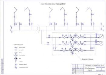 2.Гидравлическая схема (формат А2) с условными обозначениями