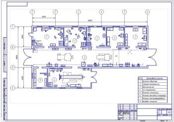 2.План ЦРМ после реконструкции (формат А2) в масштабе 1:100