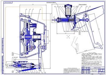 2.Сцепление однодисковое, сухого трения, постоянно замкнутое с диафрагменной пружиной в сборе (формат А1)