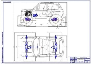 Чертежи коробки передач автомобиля ВАЗ-2121 Нива