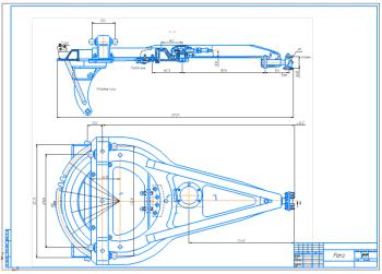 2.Рама автогрейдера в сборе с габаритными размерами А1