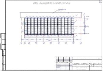 28.Чертеж схемы расположения панелей покрытия с указанием размеров и существующего здания (формат А3)