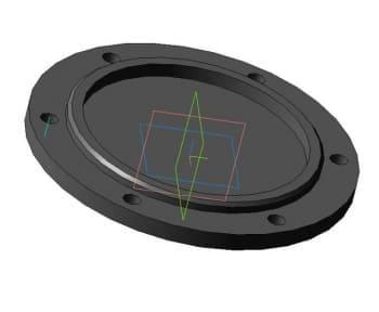 Чертеж детали крышки глухой модель 3d