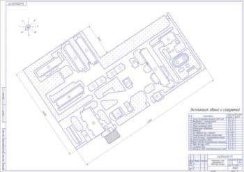2.Генеральный план птицефермы на 15000 кур-несушек (формат А1)