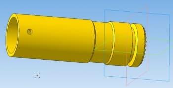 2.3D-модель корпуса отвертки