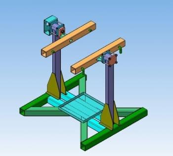 Стенд для ремонта двигателей с 3D-моделированием кантователя