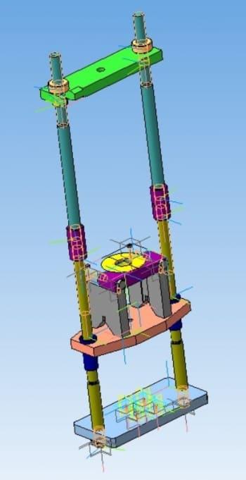 Гидравлический пресс для выпрессовки подшипнков и соединений с натягом с 3D-моделированием