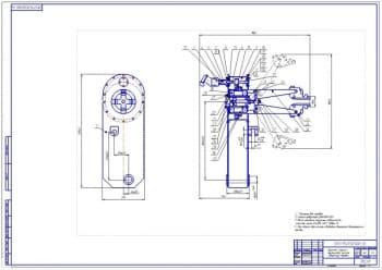 2.Сборочный чертеж верхней стрелы с механизмом зажима (формат А1)