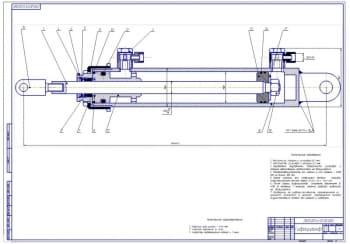 2.Сборочный чертеж гидроцилиндра (формат А1)