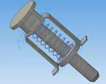 2.3D-модель сборочного чертежа