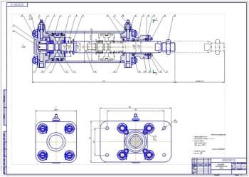 2.Сборочный чертеж пневматического цилиндра (формат А1)