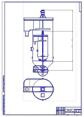 2.Общий вид в двух проекциях (формат А1)