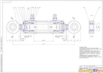 Сборочный грузоподъемника с размерами (формат А1)