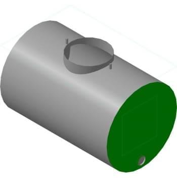 Сборочный бачка в 3D формате