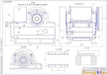 СБ камнедробилки с указанием размеров (формат А1)