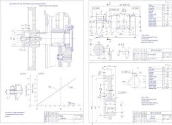 Деталировка. Чертеж приспособления для сборки колеса быстроходного  с промежуточным валом внутри корпуса мотора-редуктора (А2)