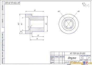 Детальвтулка с указанием размеров (формат А3)